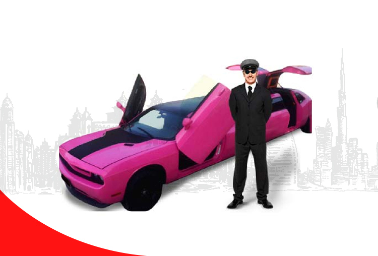 Rent-Dodge-Challenger-Pink-Limo-in-Dubai