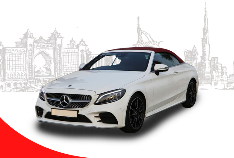 Rent-Mercedes-Benz-C200-Convertible-in-Dubai