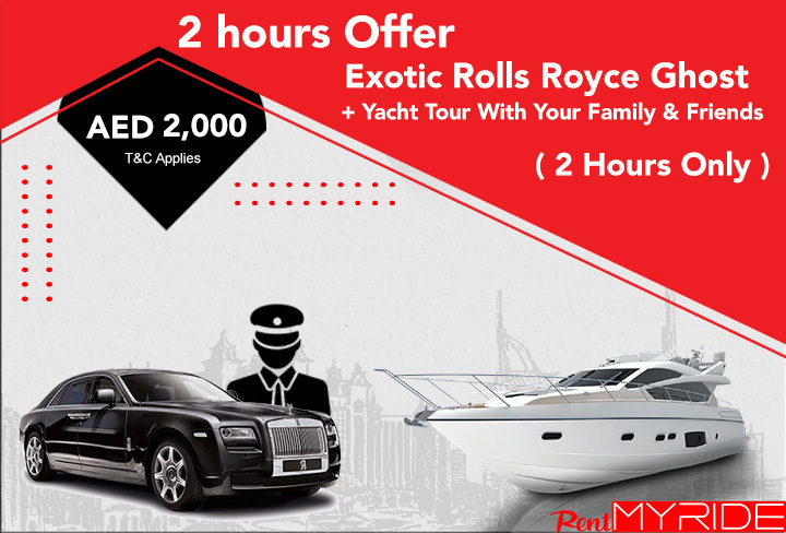 Rent-Rolls-Royce-Ghost-with-2-Hours-Yacht-in-Dubai